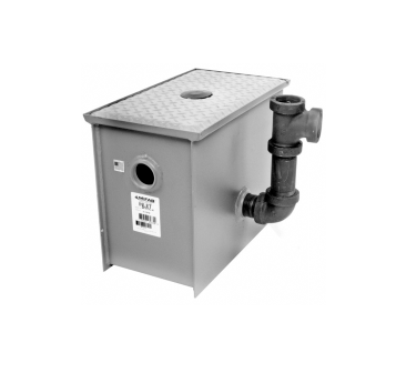MI-ROC-LO Low Rough-In Hydromechanical Grease Interceptor with Three Way