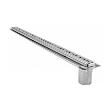 P6012 1 1/2″ Wide Stainless Steel Fabricated Drain