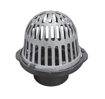 R100-M Cast Iron Roof Drain with Aluminum Dome