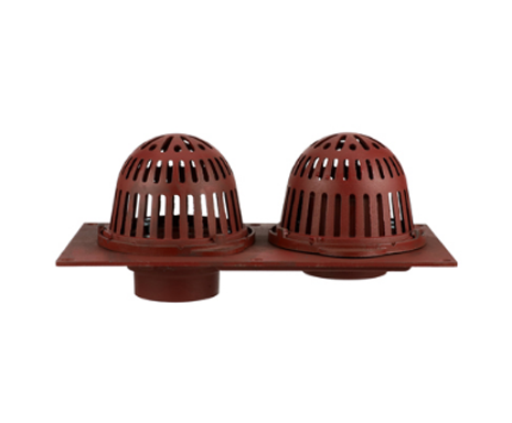 R150 Cast Iron Combined Roof Drain with Aluminum Domes and Overflow Standpipe