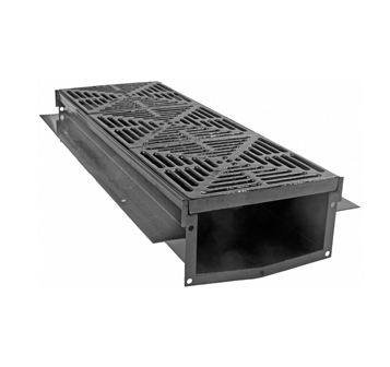 T1360-FL 12″ Wide, Presloped Trench Drain System with Flat Bottom