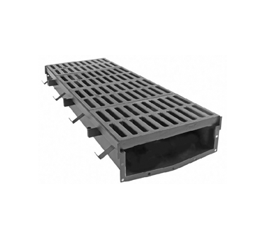 T2170 17″ Wide, Presloped, Fabricated Steel Trench Drain System