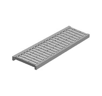 T1000 6″ Wide Trench Drain Grate with Optional Angle Frame