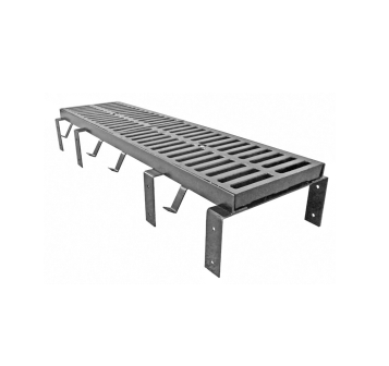 T1200-F 12″ x 24″ Trench Drain Grate with Optional Angle Frame