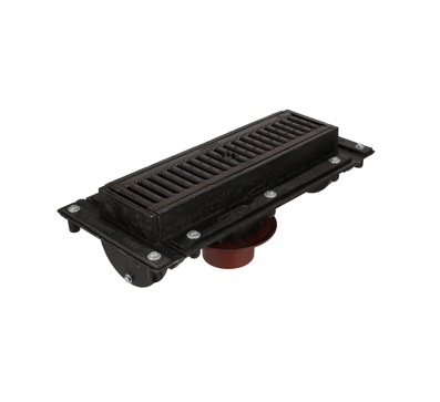 T1320-FL 6″ Wide, Neutral Sloped Body & Grate System