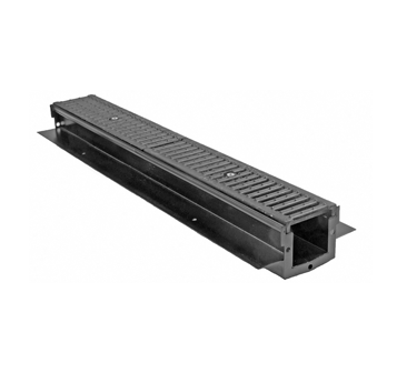 T1330-FL 6″ Wide, Presloped, Fabricated Steel Trench Drain System