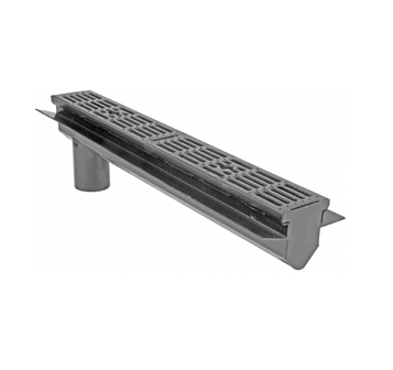 T1330-FL-TH 6″ Wide, Presloped, Fabricated System with V Bottom