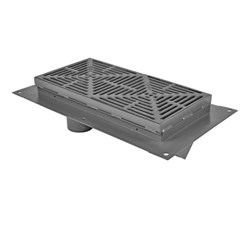 T1360-FL-TH 12″ Wide, Presloped Trench Drain System with V Bottom