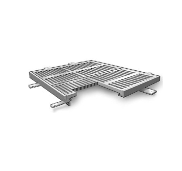 T1200-F2 24 1/2″ x 24 1/2″ Trench Drain Grate and Frame Assembly
