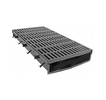T2400 24″ Wide, Presloped Fabricated Steel Trench Drain System