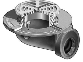F1100-90 Floor Drain with Side Outlet for Non-Membrane Floor Areas