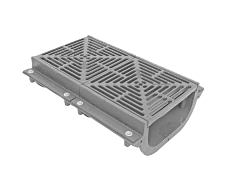 T1350-FL 12″ Wide, Neutral Sloped Body & Grate System