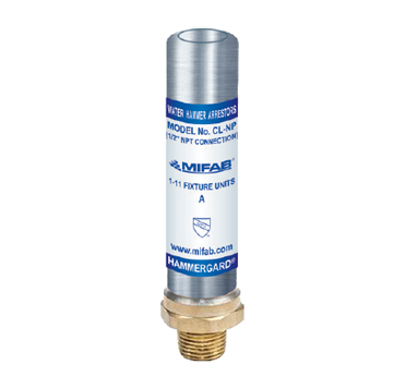 "CL-NP Nickel Plated, Type ""K"" Copper Piston Operated Water Hammer Arrestor with Male Threaded Connection"