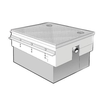 MI-CSD Cover Shroud for MI-G-SD(H) Series Draw-Off Grease Interceptors