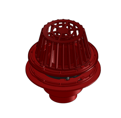 R1200-ES Large Sump Roof Drain with Extension